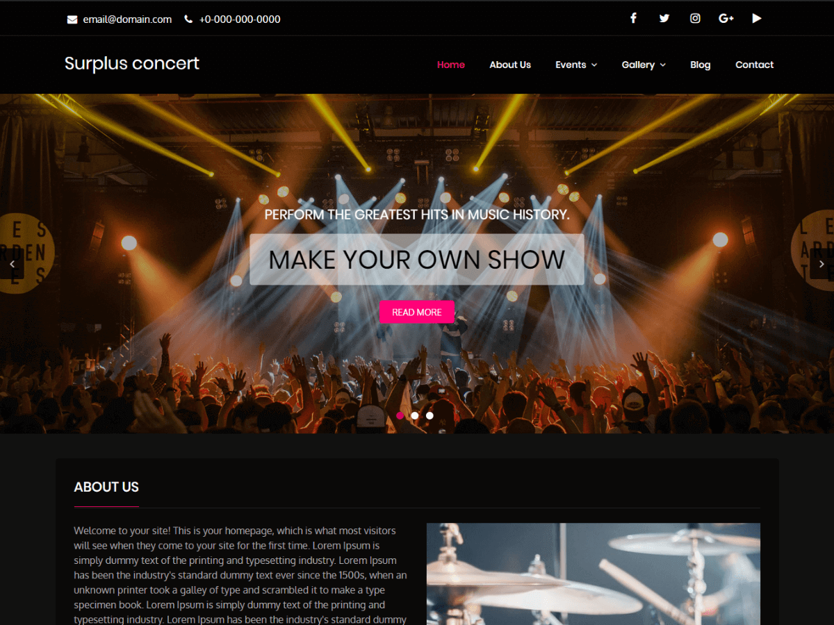 Download Surplus Concert 1.1.3 – Free WordPress Theme