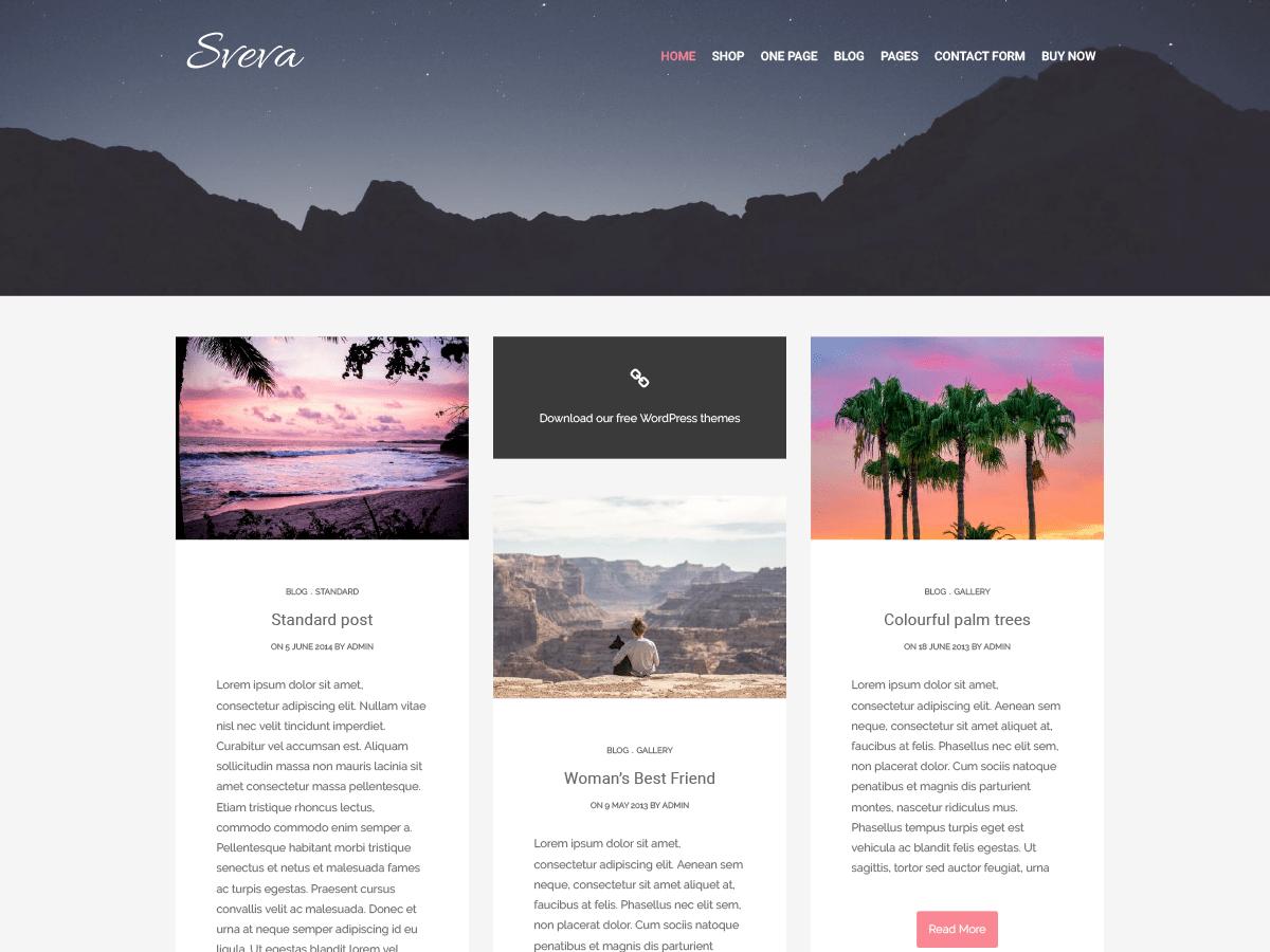 Download Sveva 1.0.4 – Free WordPress Theme