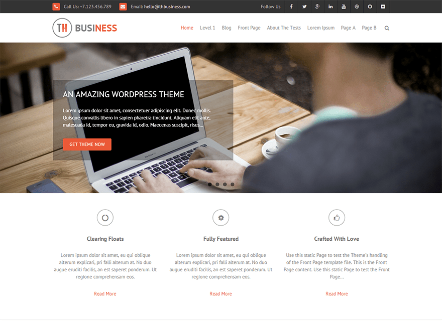 Download THBusiness 2.0.6 – Free WordPress Theme