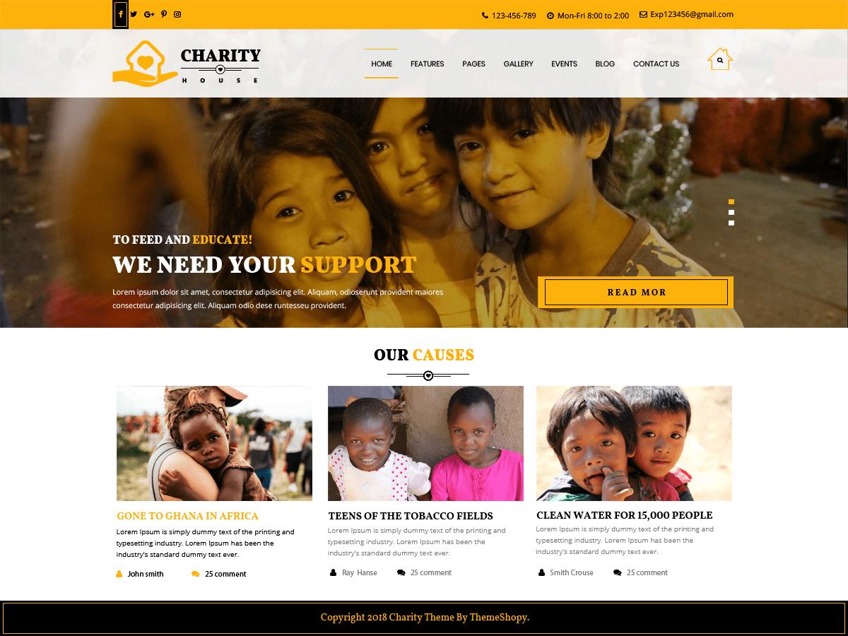 Download TS Charity 0.2.4 – Free WordPress Theme