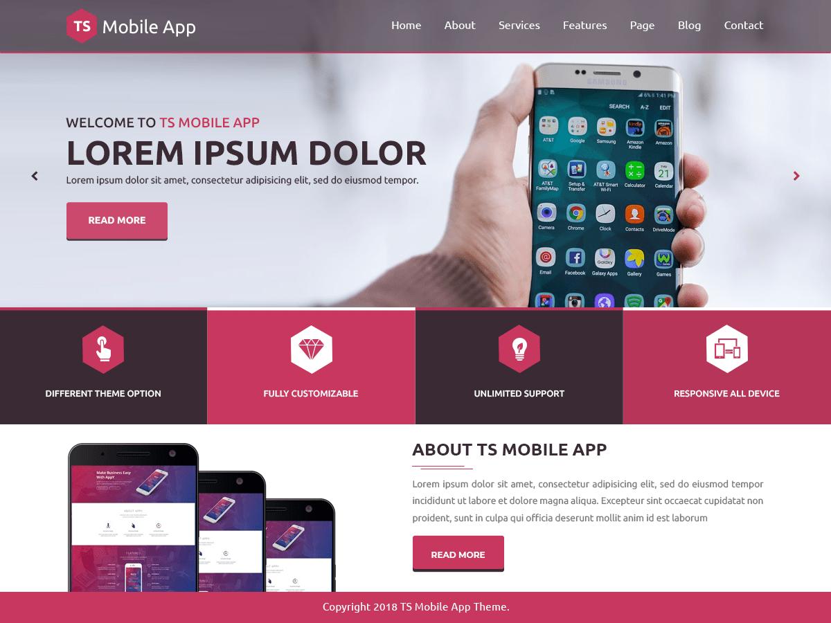 Download TS Mobile App 0.1 – Free WordPress Theme
