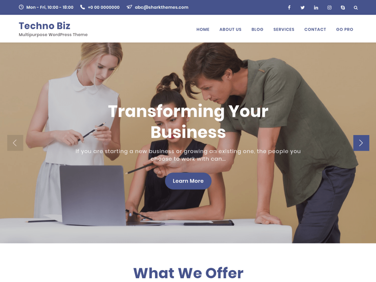 Download Techno Biz 1.0.0 – Free WordPress Theme