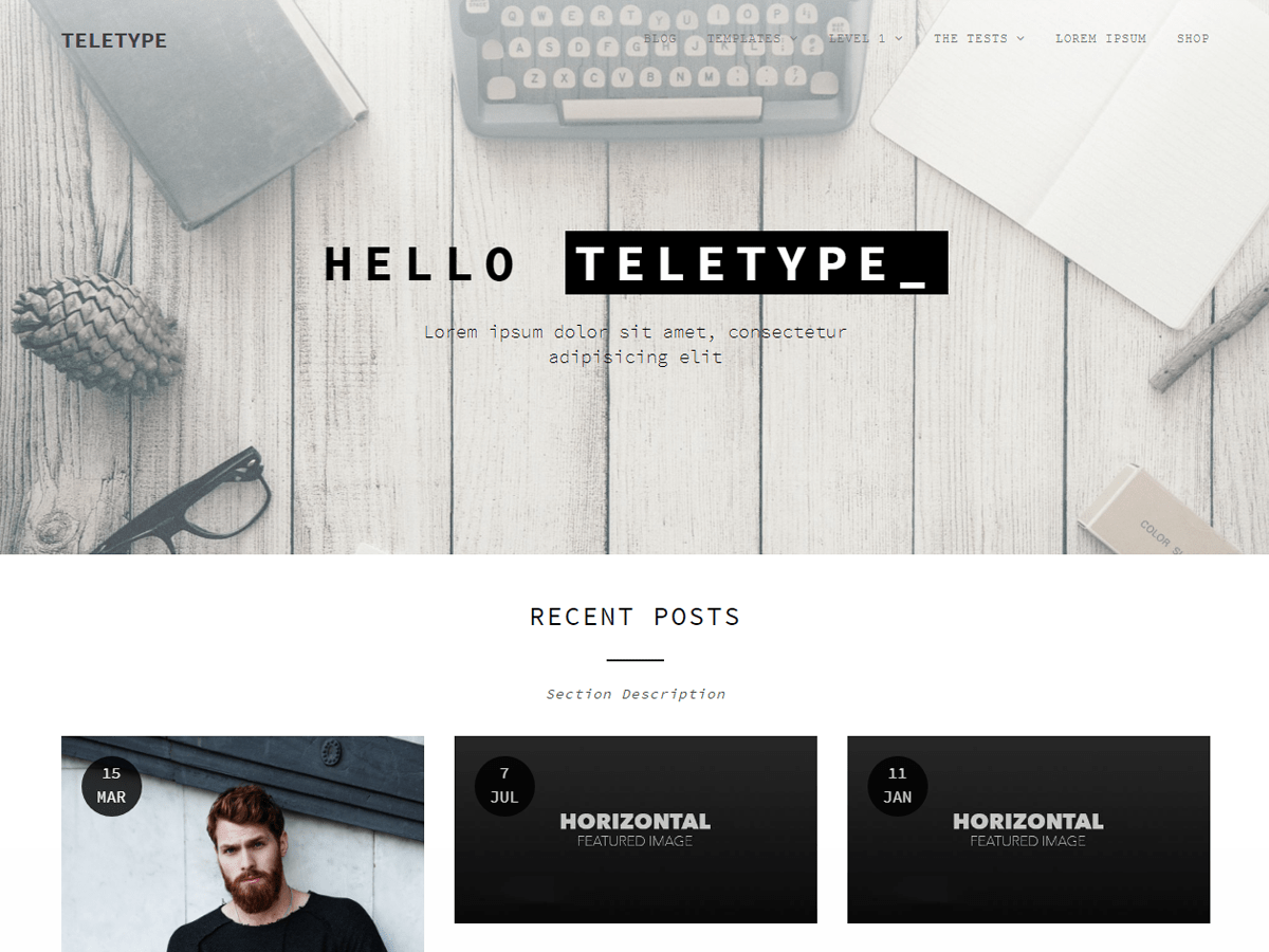 Download Teletype 1.2.5 – Free WordPress Theme