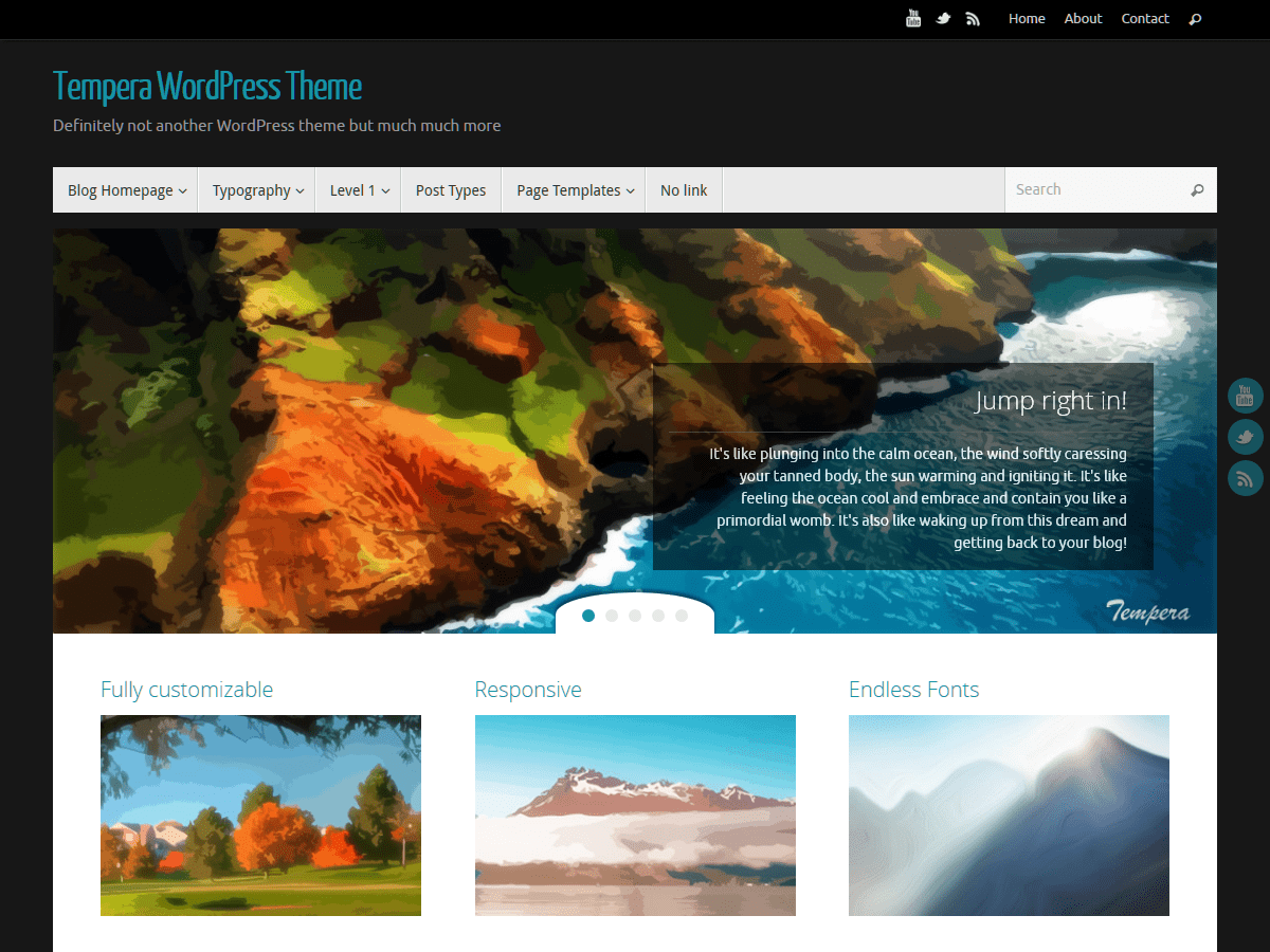 Download Tempera 1.7.0 – Free WordPress Theme