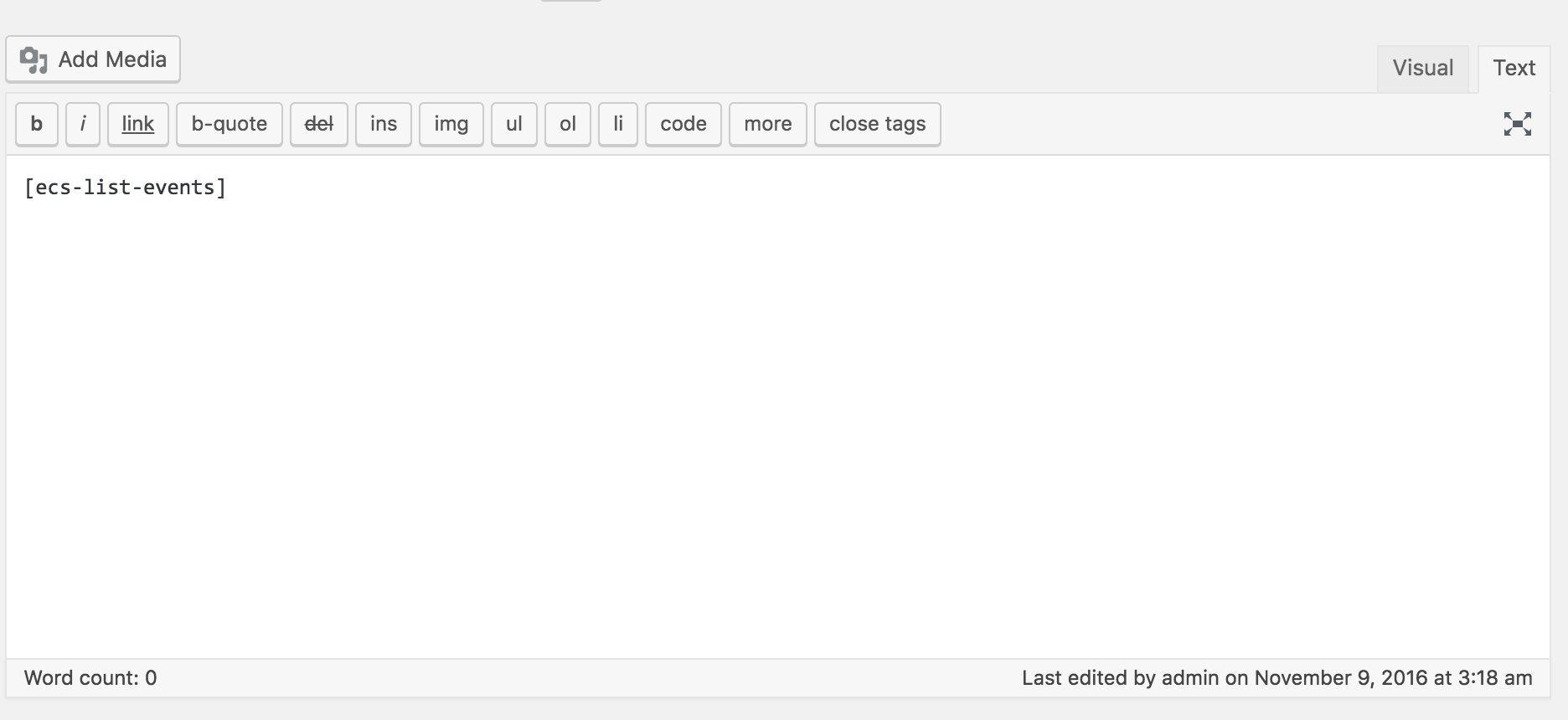 Download The Events Calendar Shortcode 1.9 – Free WordPress Plugin
