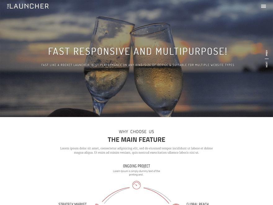 Download The Launcher 1.2.5 – Free WordPress Theme
