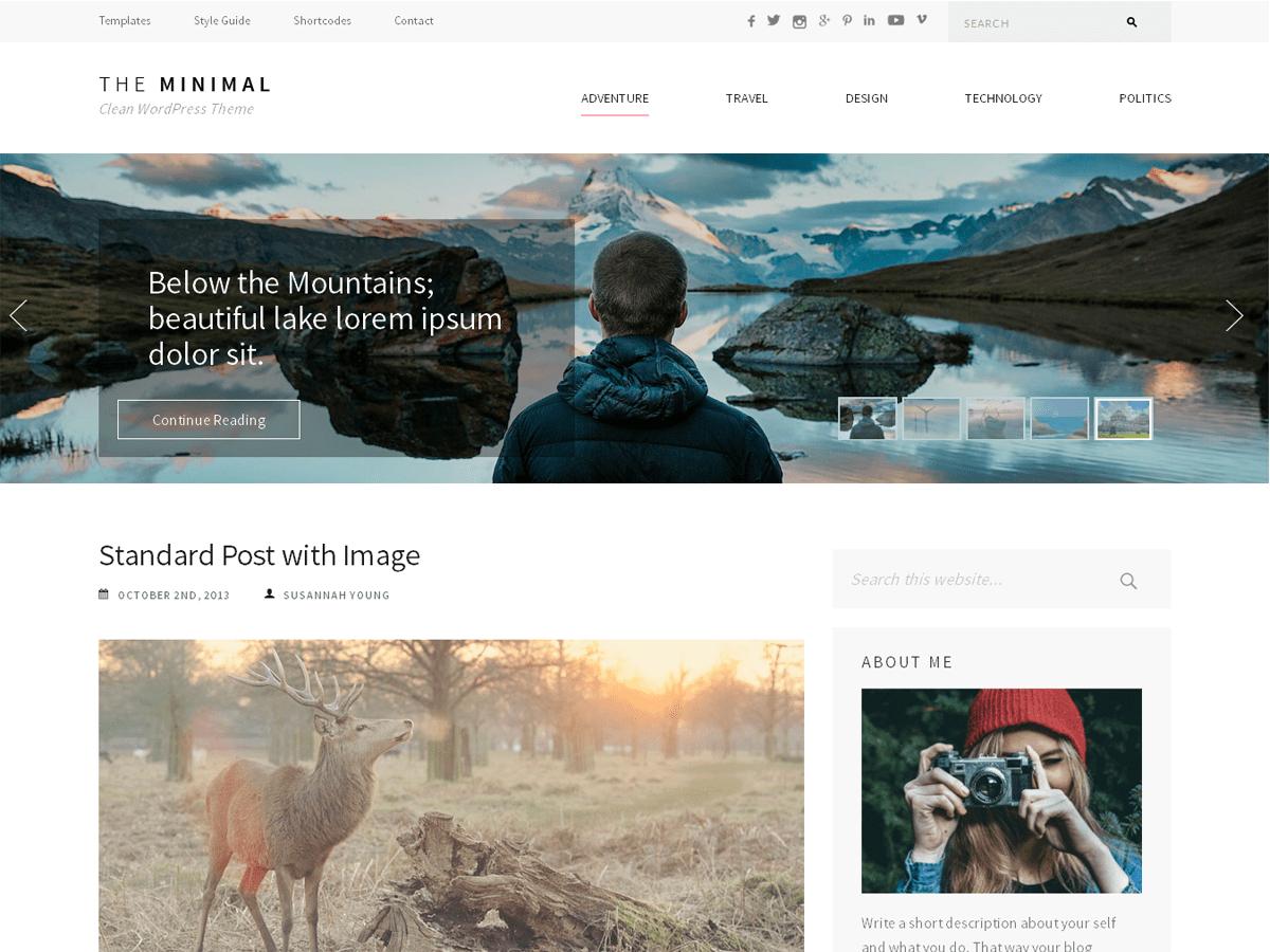 Download The Minimal 1.1.7 – Free WordPress Theme