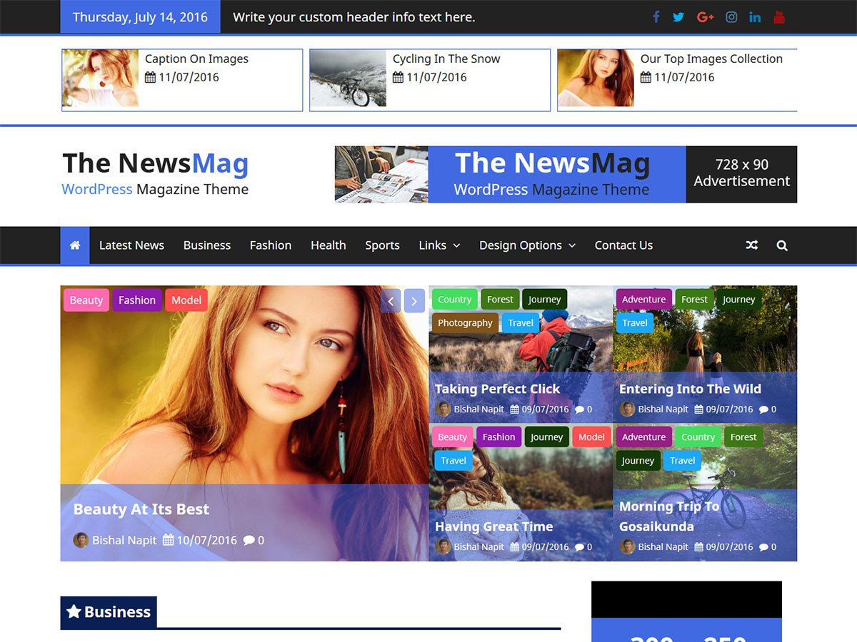 Download The NewsMag 1.0.3 – Free WordPress Theme