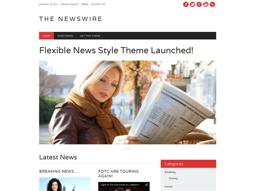 Download The Newswire 2.1 – Free WordPress Theme