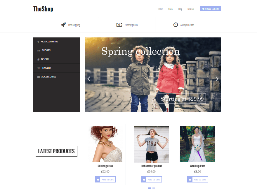 Download TheShop 1.10 – Free WordPress Theme
