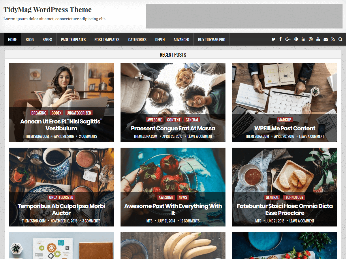 Download TidyMag 1.0.1 – Free WordPress Theme