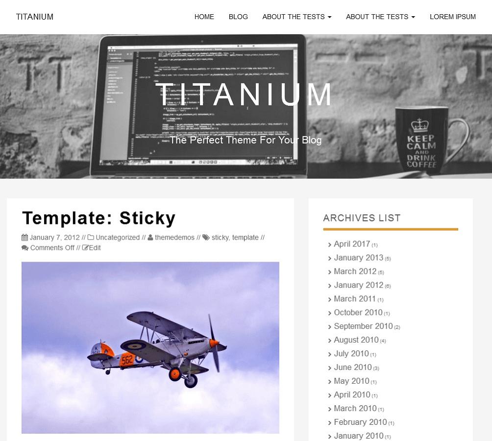 Download Titanium 1.1.4 – Free WordPress Theme