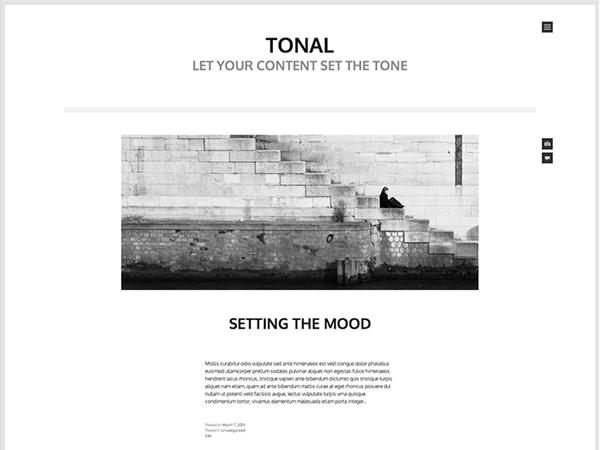 Download Tonal 1.1.3 – Free WordPress Theme