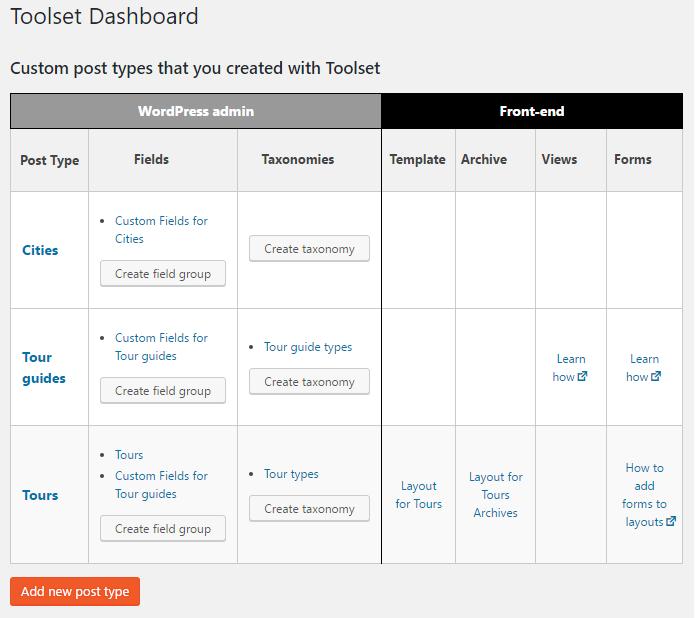 Download Toolset Types – Custom Post Types, Custom Fields and Taxonomies 2.3.4 – Free WordPress Plugin