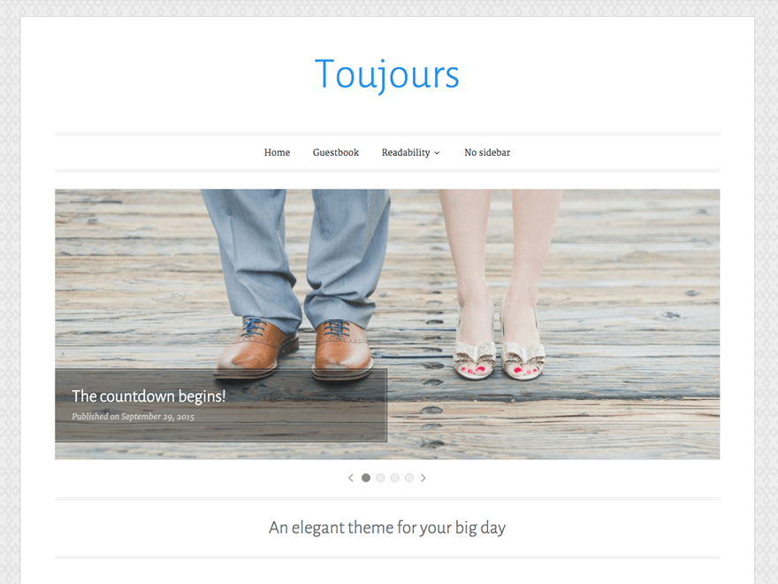 Download Toujours 1.1.0 – Free WordPress Theme