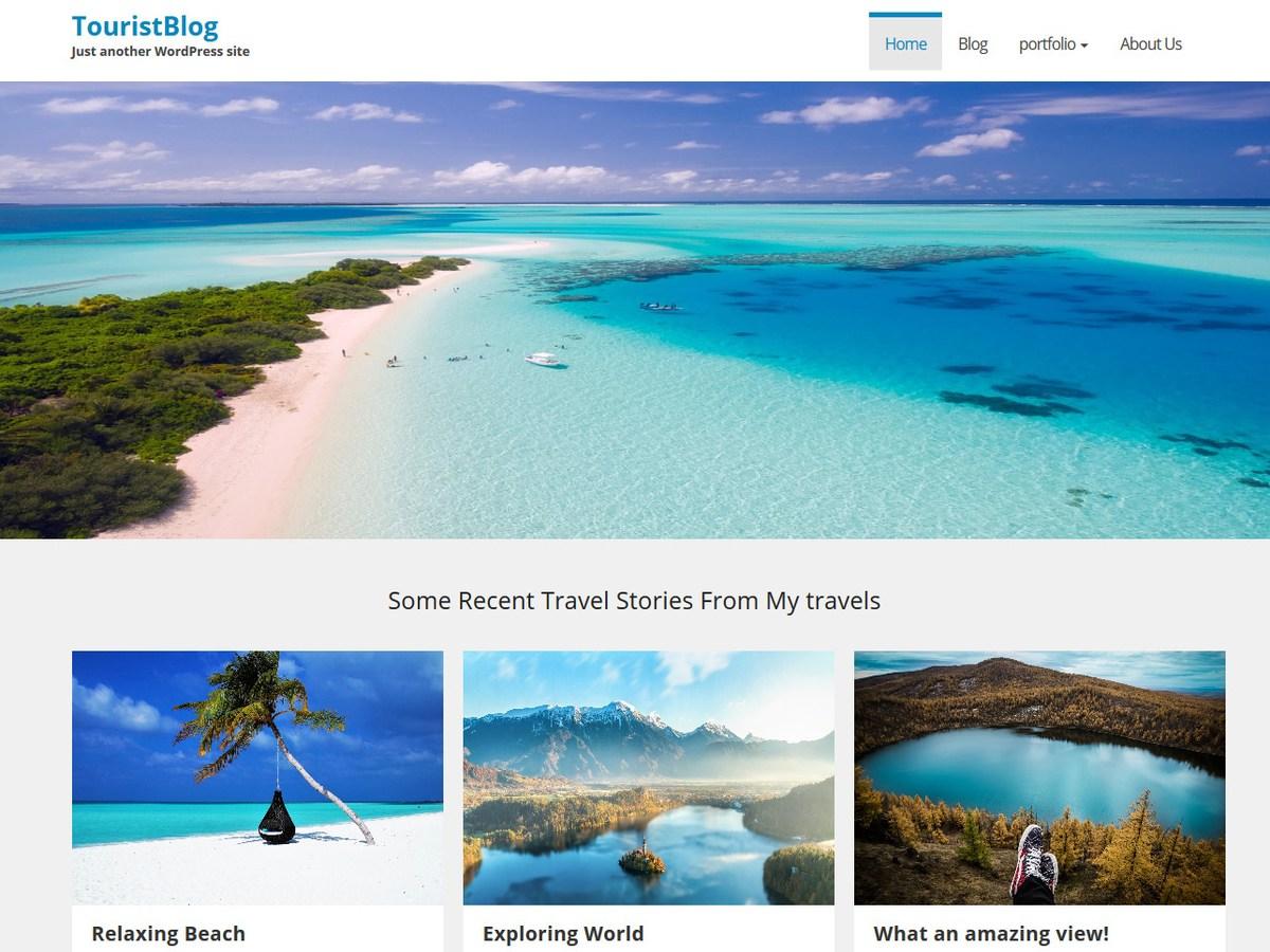 Download TouristBlog 1.0.2 – Free WordPress Theme