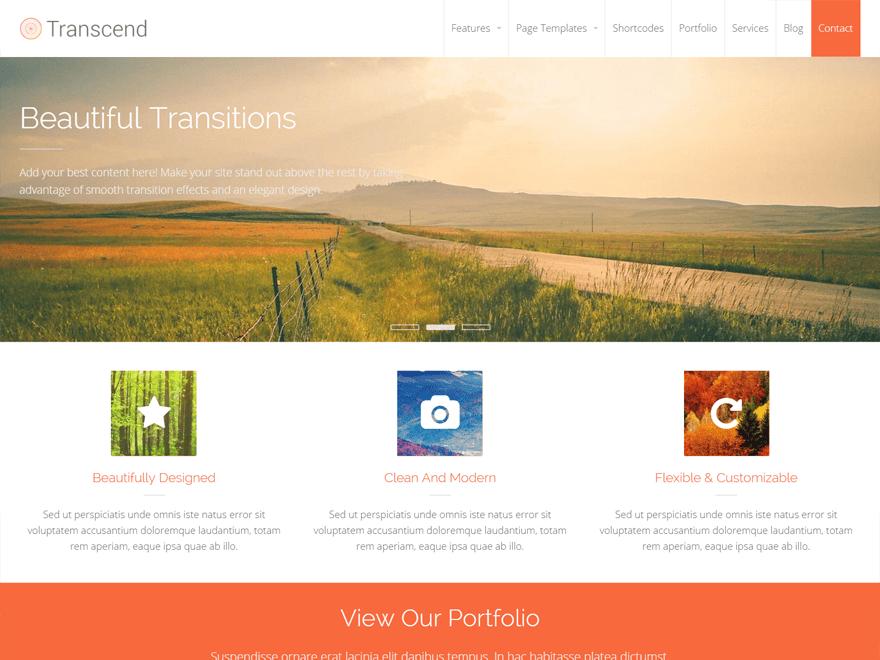 Download Transcend 1.1.6 – Free WordPress Theme