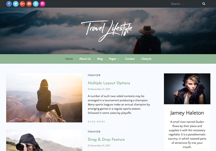 Download Travel Lifestyle 1.0.0 – Free WordPress Theme
