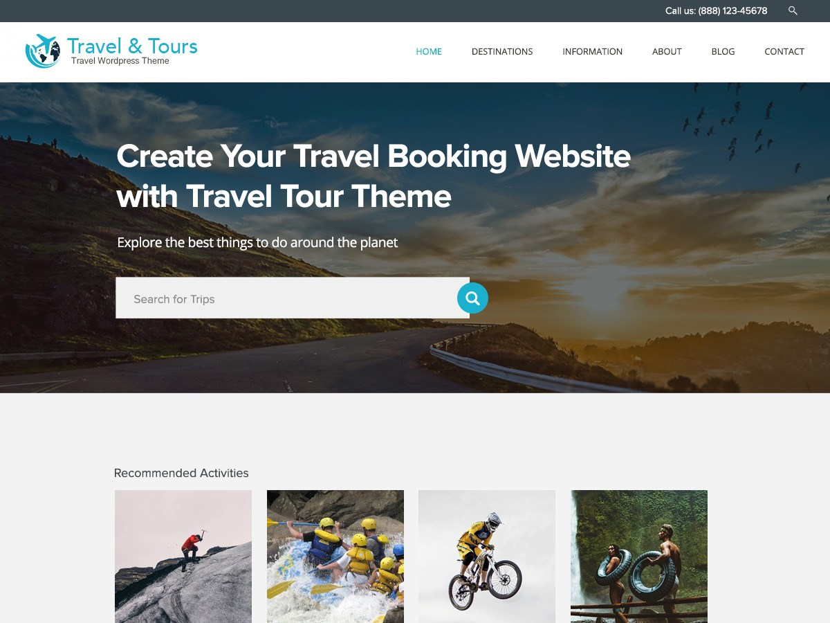Download Travel Tour 1.0.8 – Free WordPress Theme