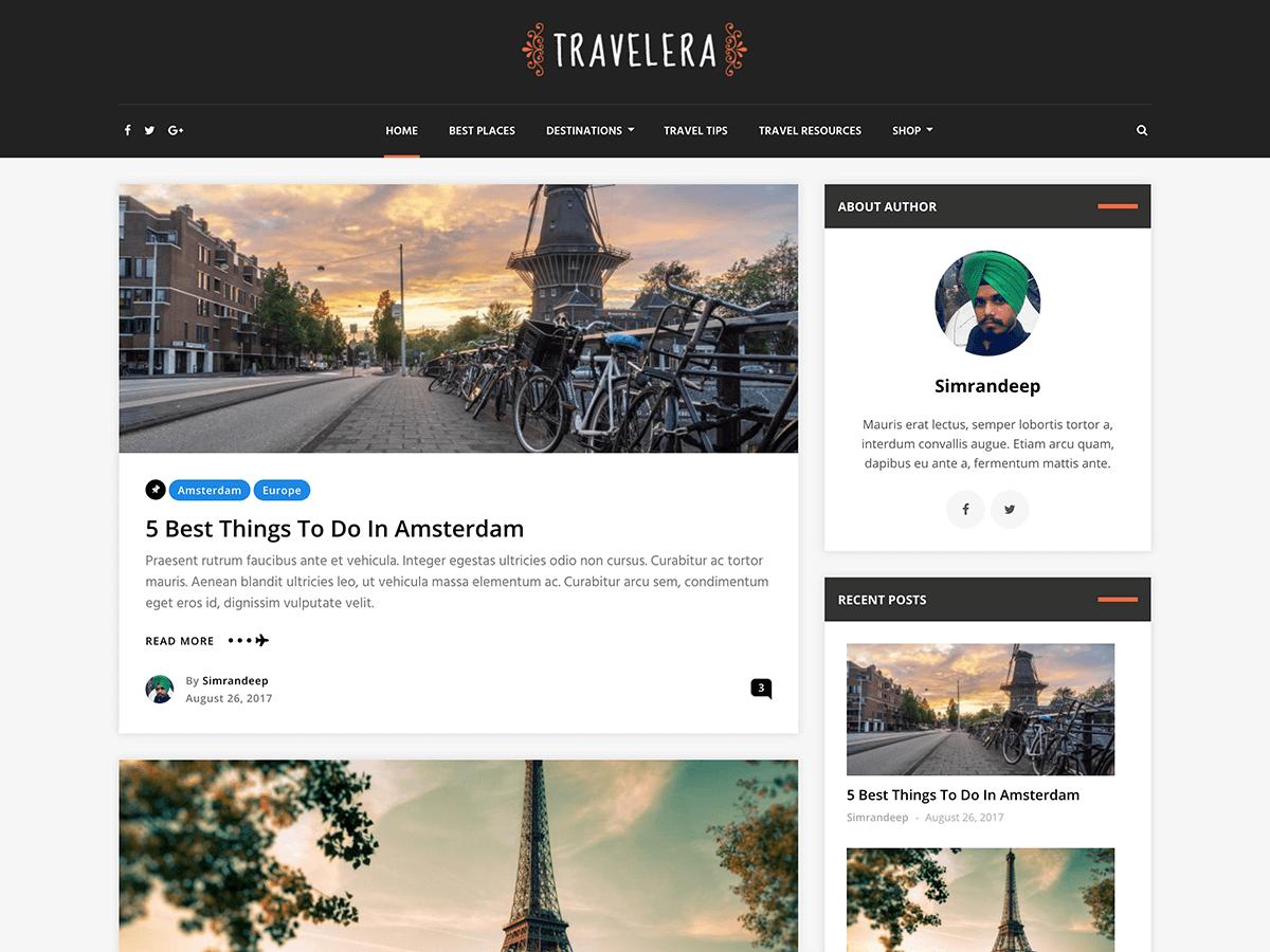 Download Travelera Lite 1.0.1.2 – Free WordPress Theme