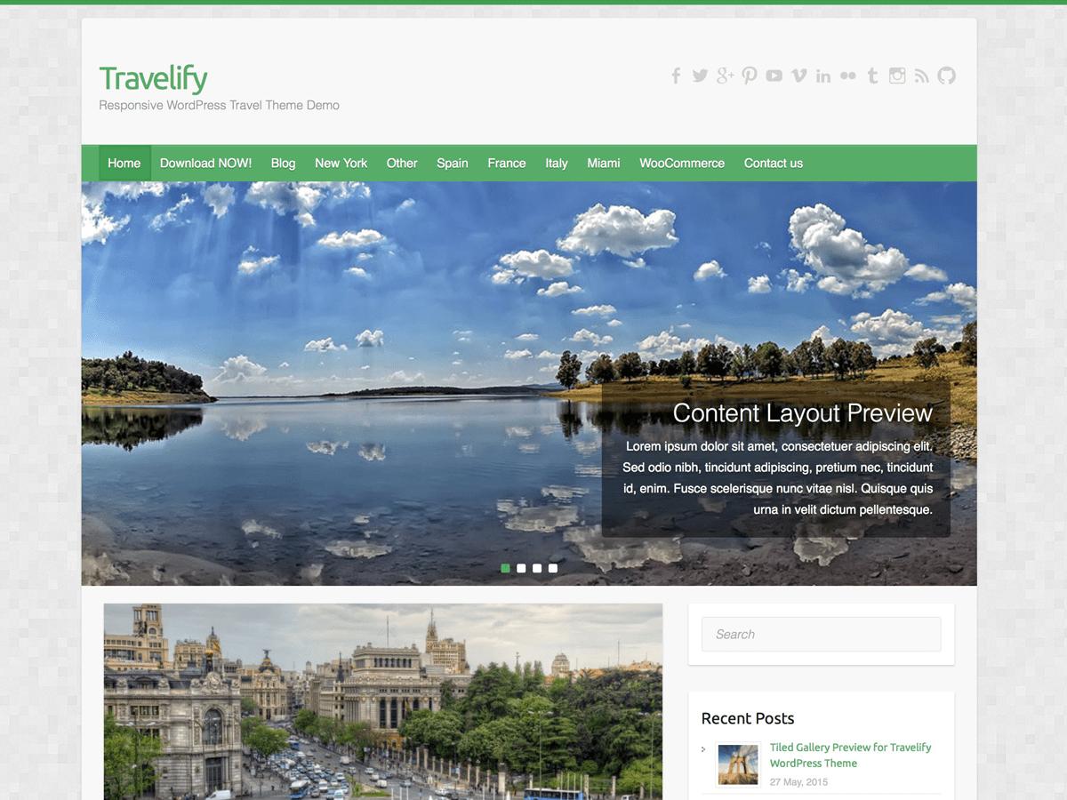 Download Travelify 3.0.4 – Free WordPress Theme