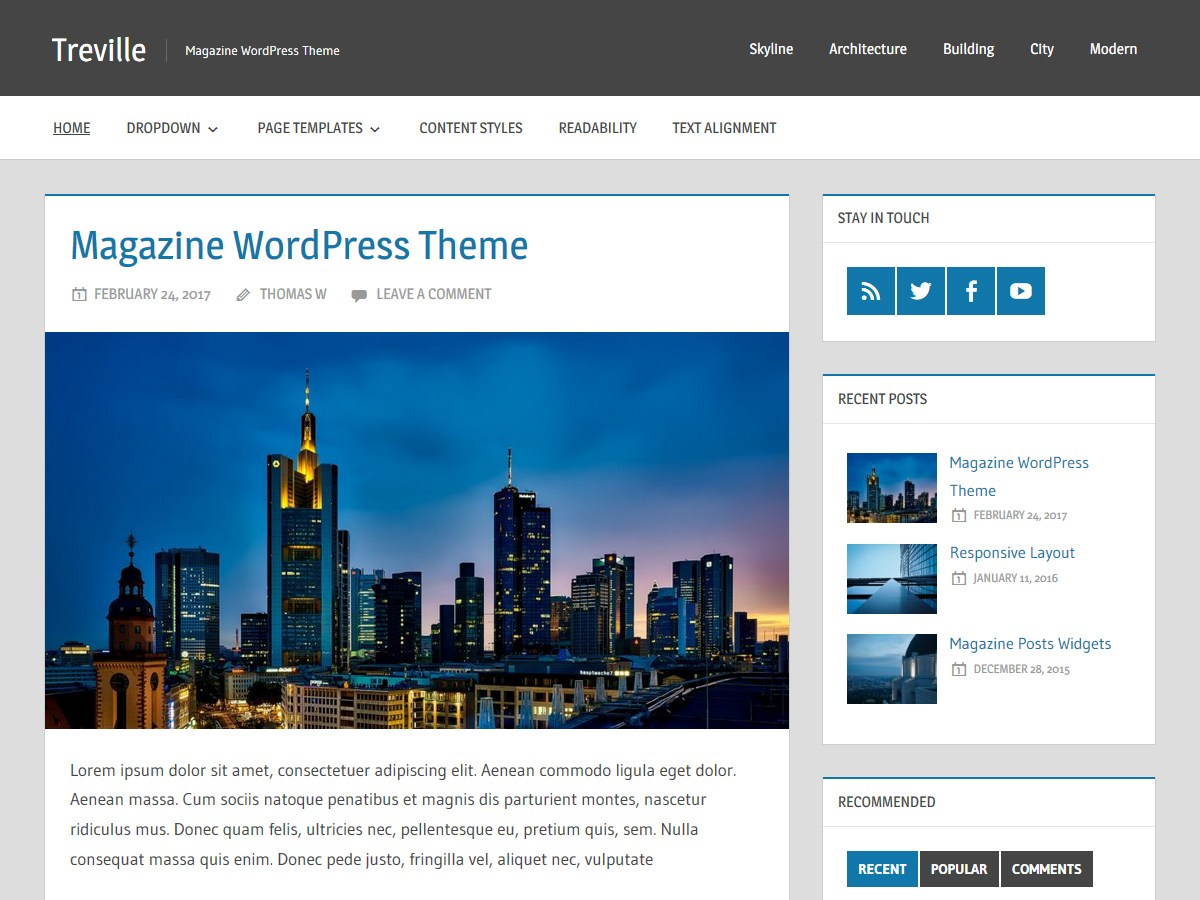 Download Treville 1.4.1 – Free WordPress Theme