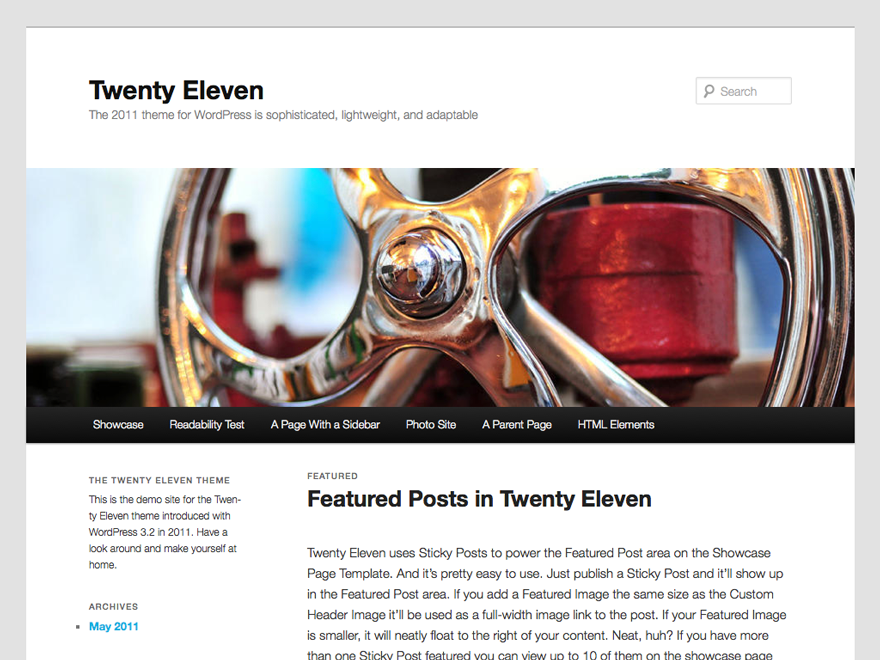 Download Twenty Eleven 2.8 – Free WordPress Theme
