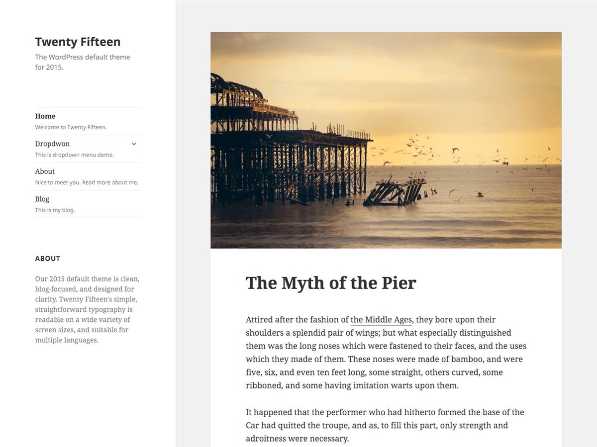 Download Twenty Fifteen 2.0 – Free WordPress Theme