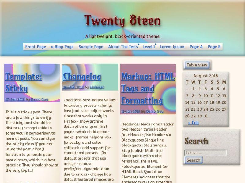 Download Twenty8teen 20180927 – Free WordPress Theme