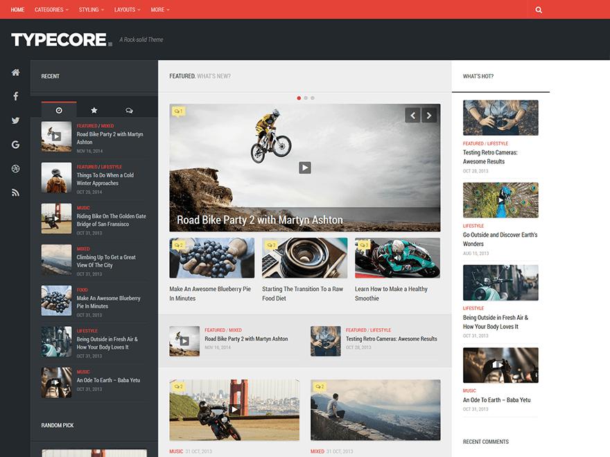 Download Typecore 1.1.2 – Free WordPress Theme