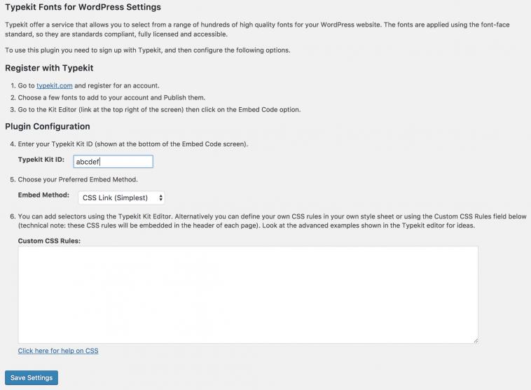Download Typekit Fonts for WordPress 1 9 0 - Free Wordpress