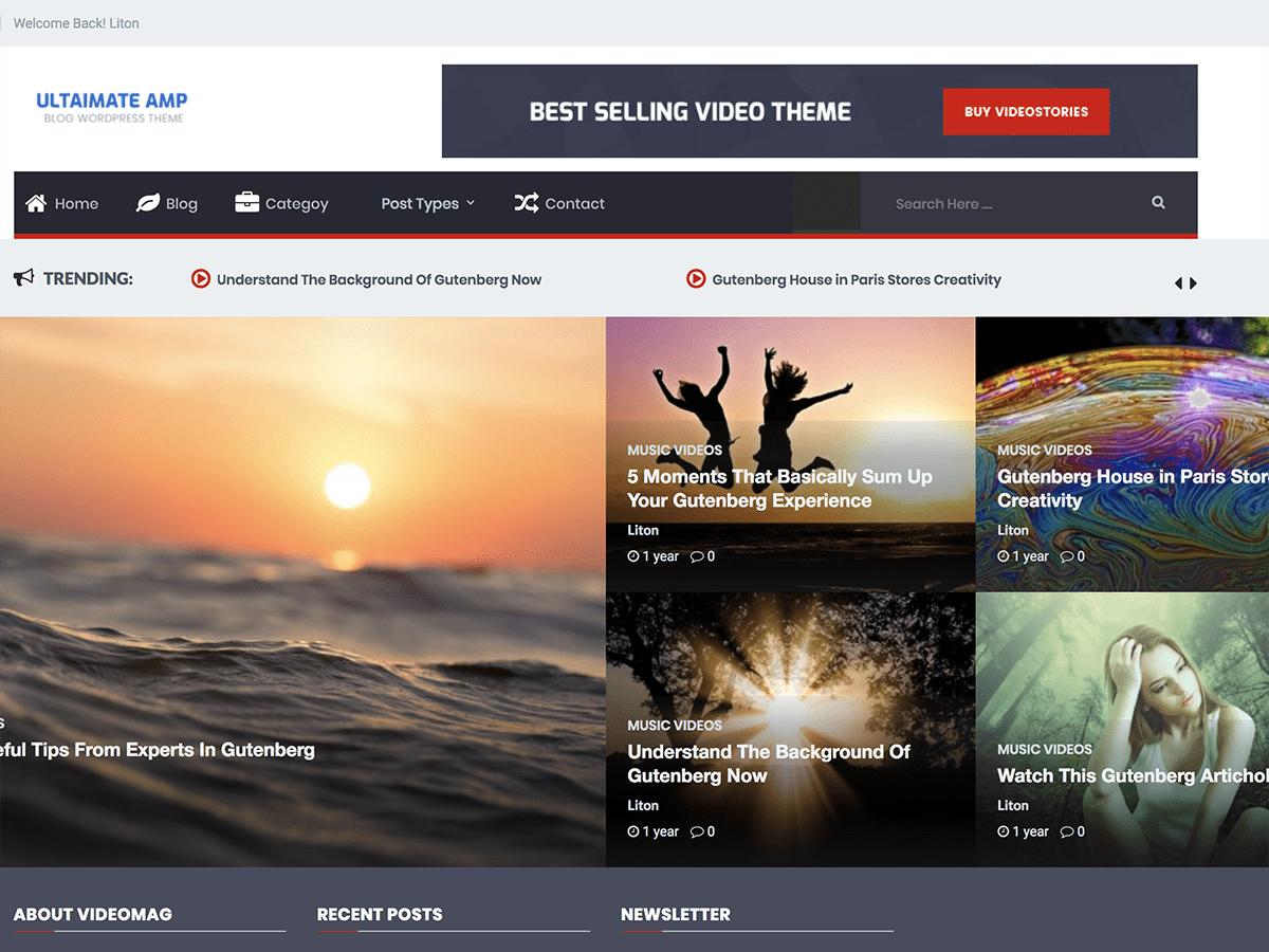 Download Ultimate AMP 1.0.2 – Free WordPress Theme