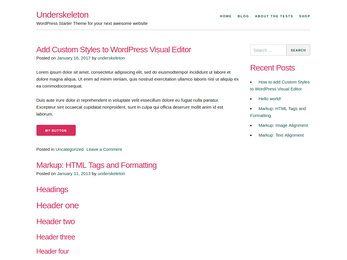 Download Underskeleton 1.0.5 – Free WordPress Theme