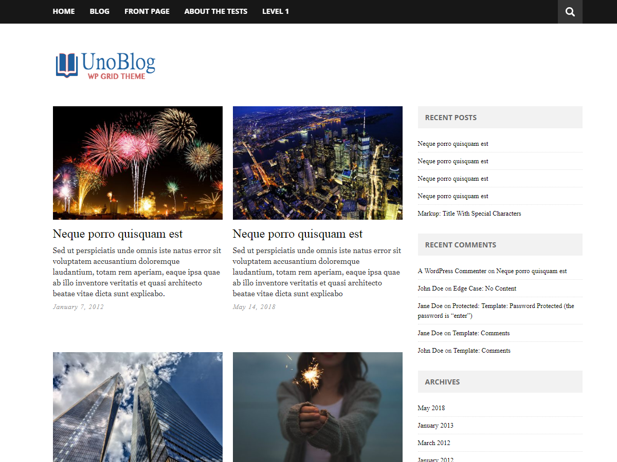 Download UnoBlog Lite 2.4.4 – Free WordPress Theme