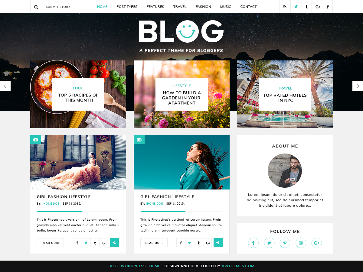 Download VW Blog Magazine 0.2.6 – Free WordPress Theme