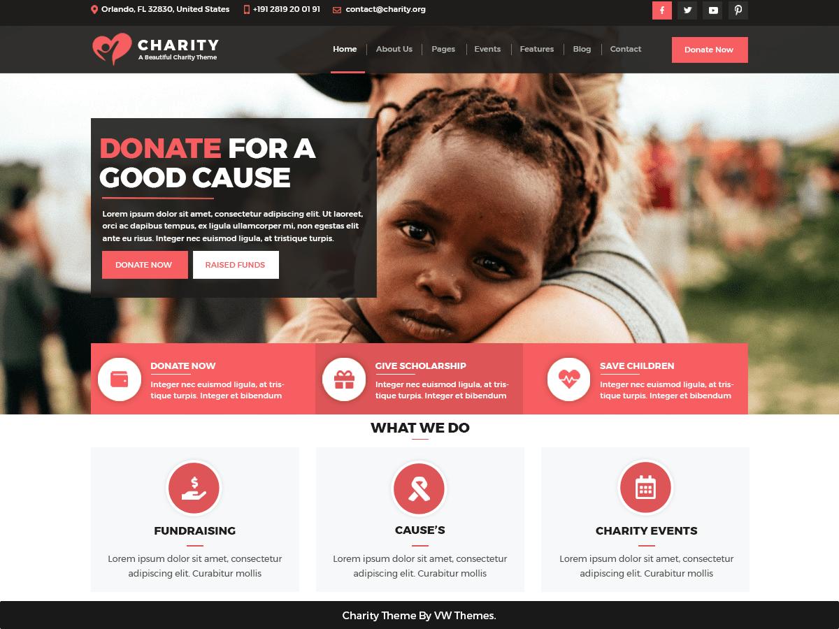 Download VW Charity NGO 0.2 – Free WordPress Theme