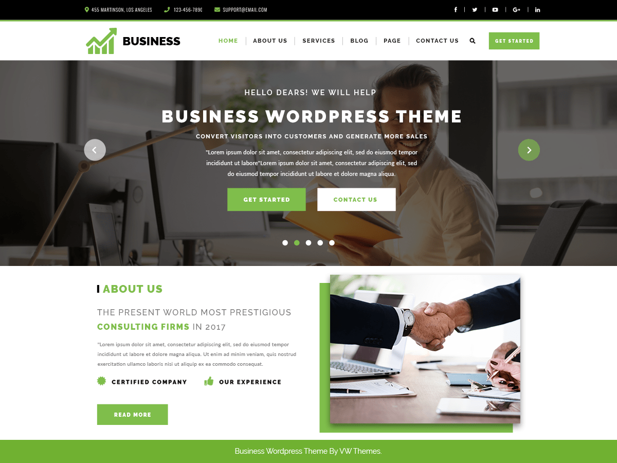 Download VW Corporate Business 0.2 – Free WordPress Theme