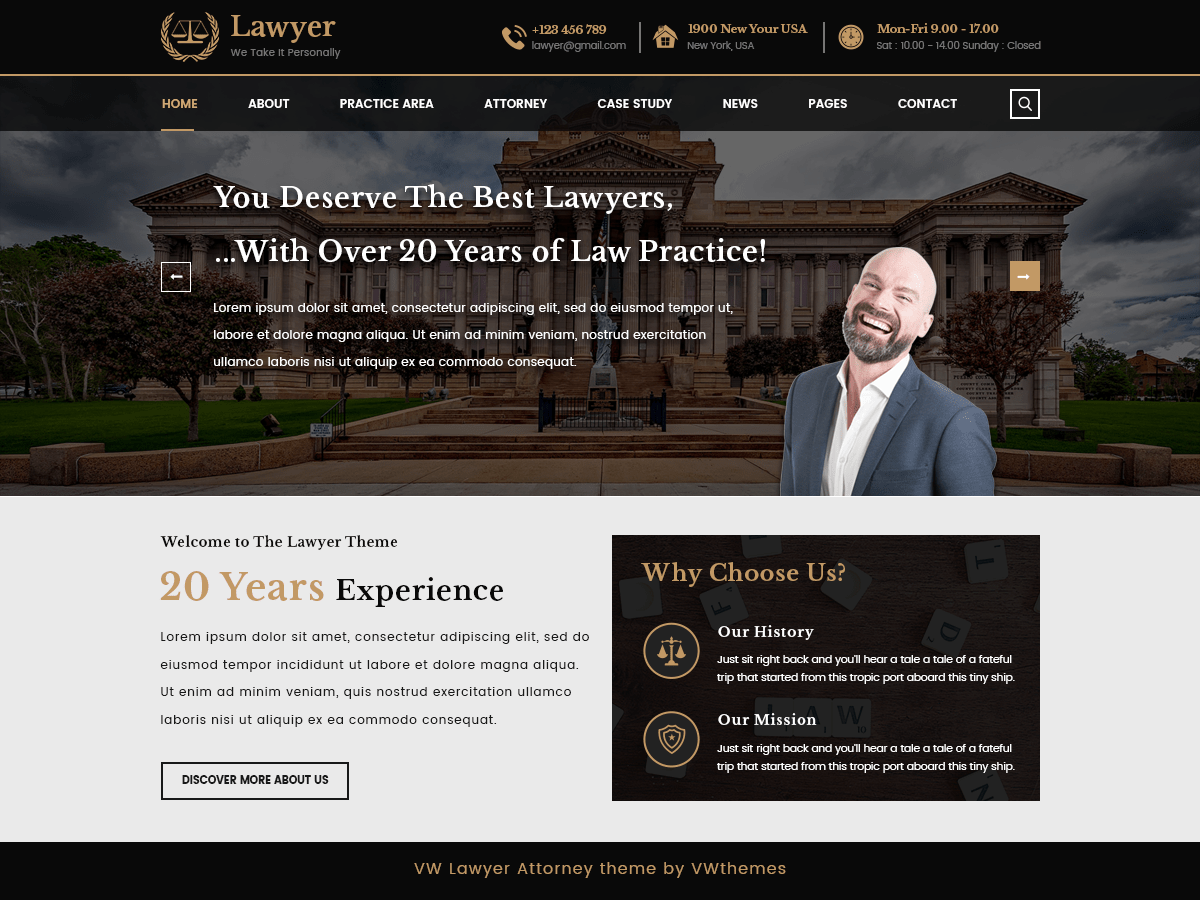 Download VW Lawyer Attorney 0.6.2 – Free WordPress Theme