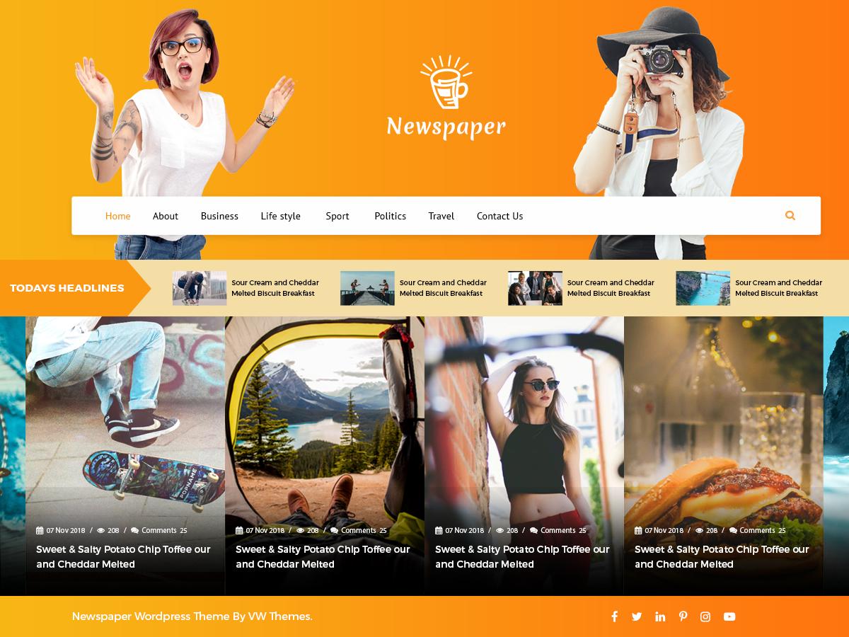 Download VW Newspaper 0.2 – Free WordPress Theme