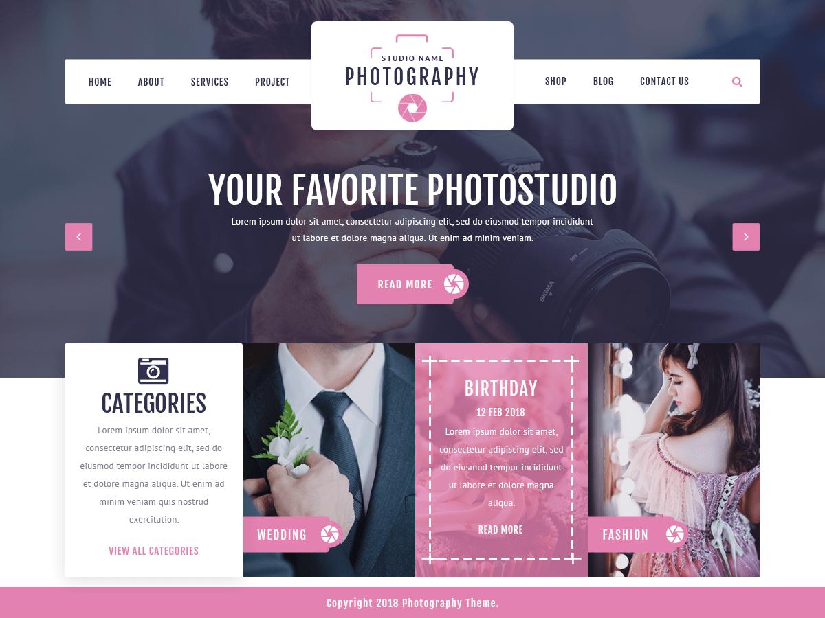 Download VW Photography 0.1 – Free WordPress Theme