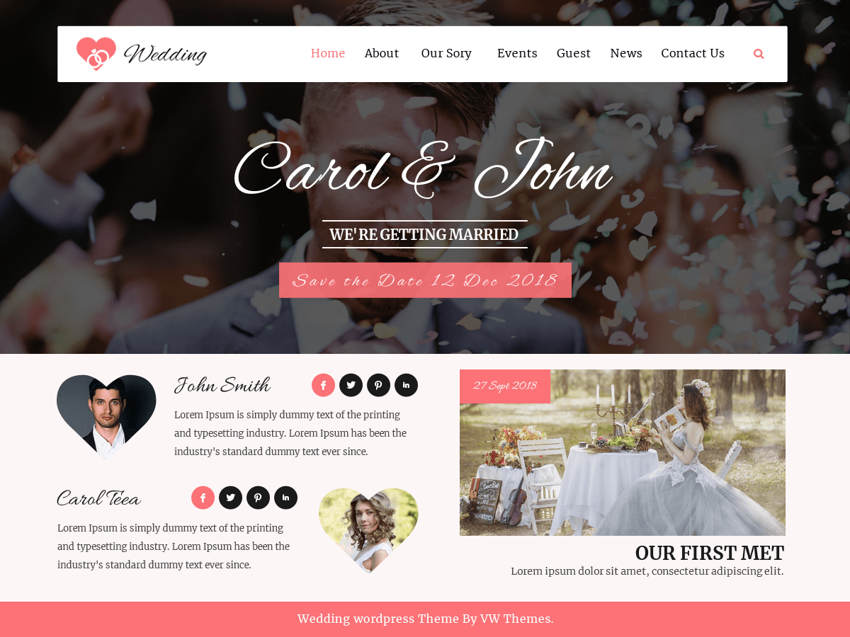 Download VW Wedding 0.1 – Free WordPress Theme