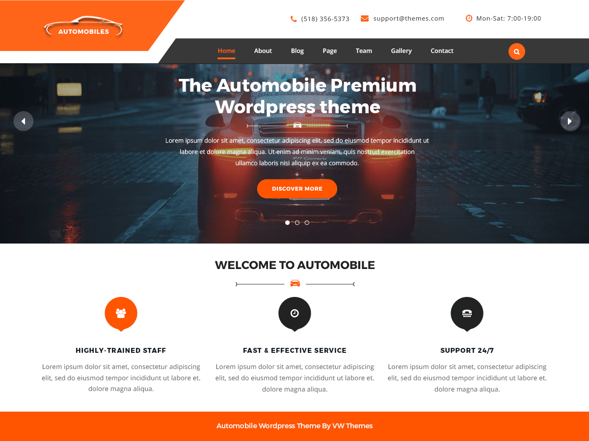 Download VW automobile Lite 1.0.6 – Free WordPress Theme