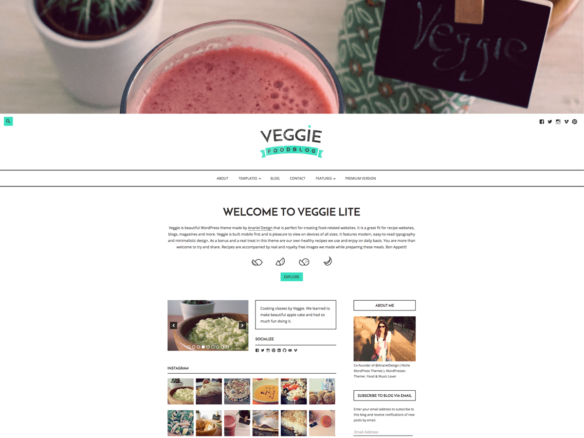 Download Veggie Lite 1.2.4 – Free WordPress Theme
