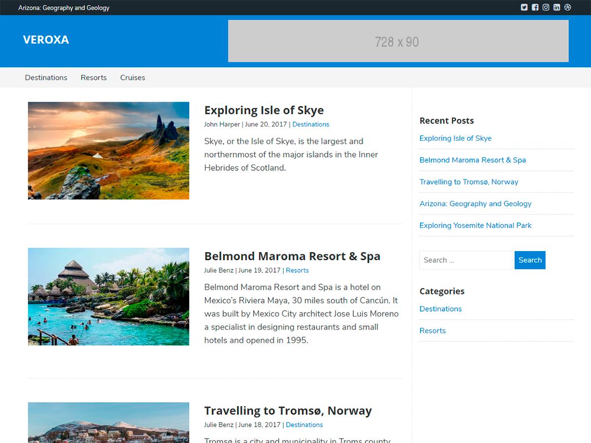 Download Veroxa 1.1.5 – Free WordPress Theme