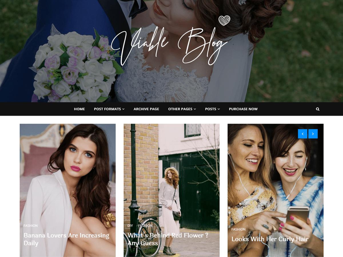 Download Viable Blog 1.0.5 – Free WordPress Theme