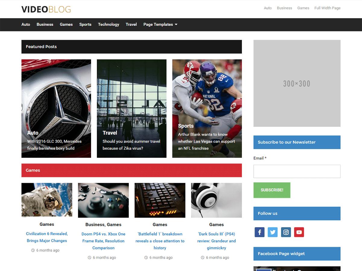Download Videoblog 1.3.6 – Free WordPress Theme