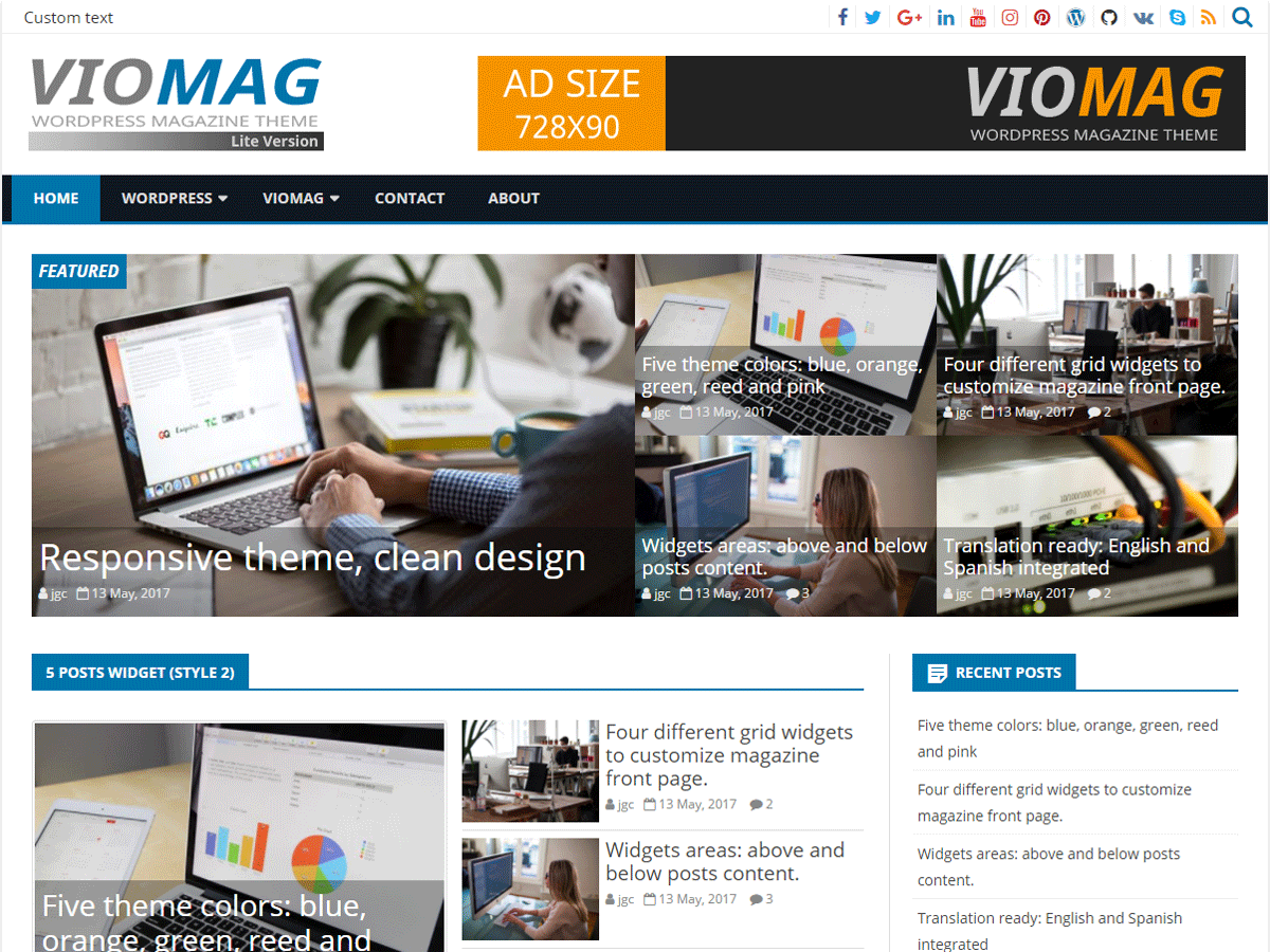 Download VioMag 1.4.8 – Free WordPress Theme