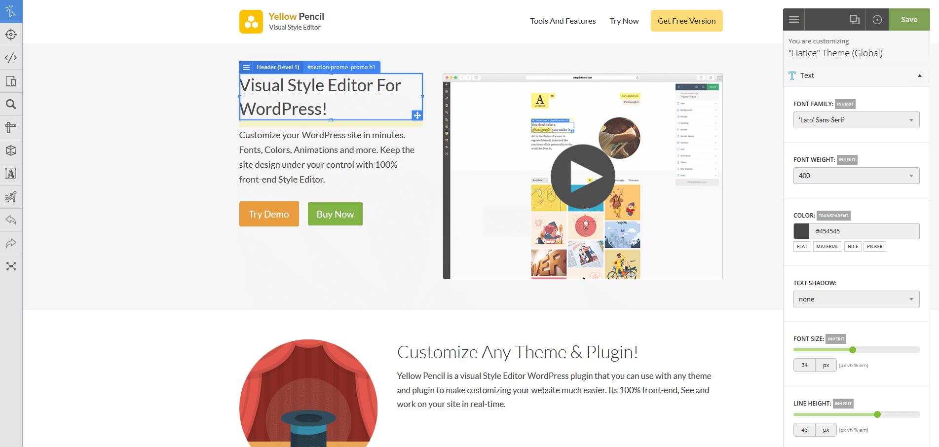 Download Visual CSS Style Editor 7.1.1 – Free WordPress Plugin