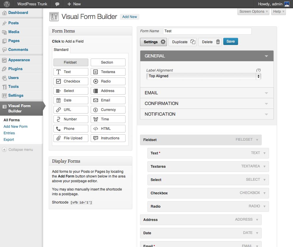 Download Visual Form Builder 2.9.9 – Free WordPress Plugin