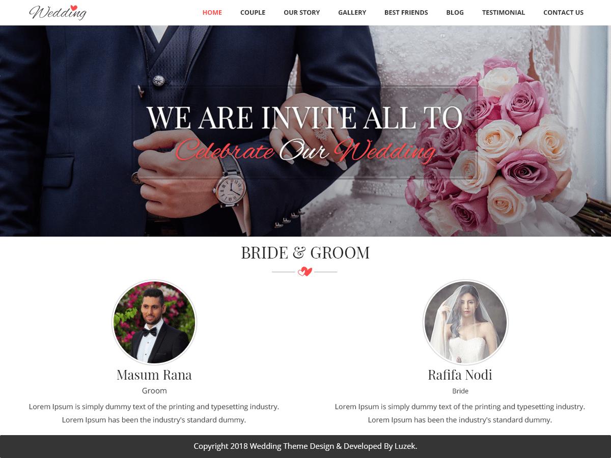 Download Vivah Royal Wedding 0.1 – Free WordPress Theme